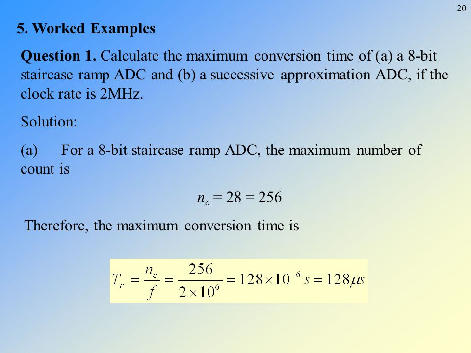 5. Worked Examples