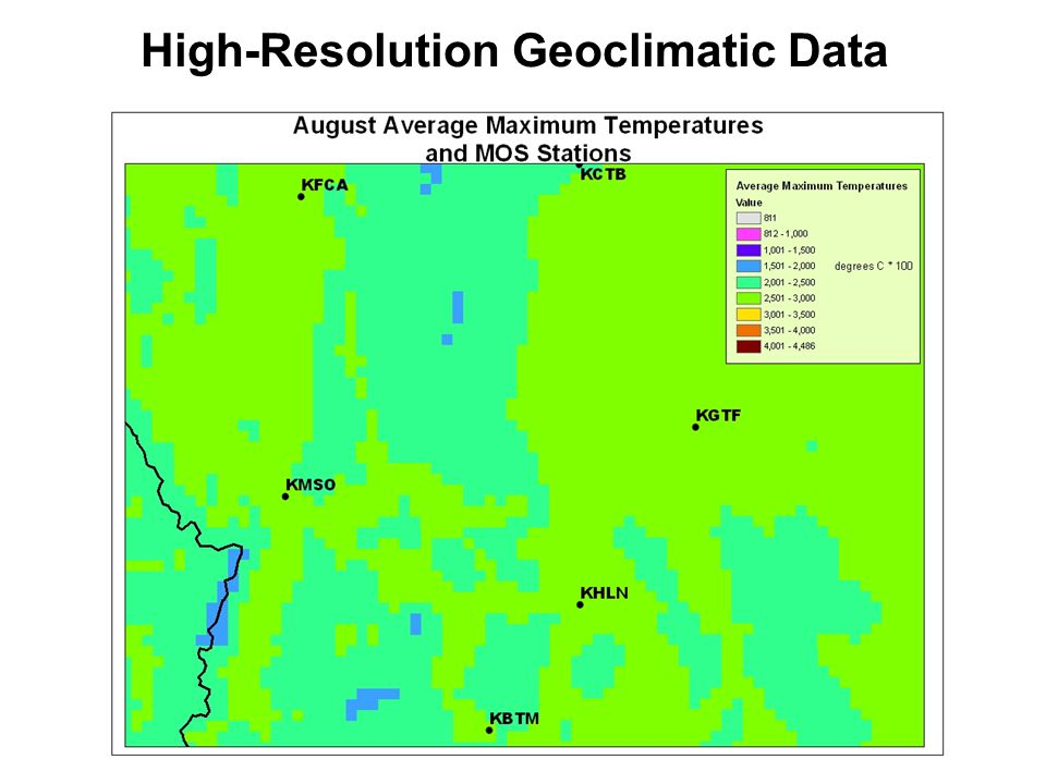 High-Resolution Geoclimatic Data