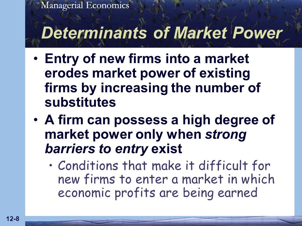Determinants of Market Power