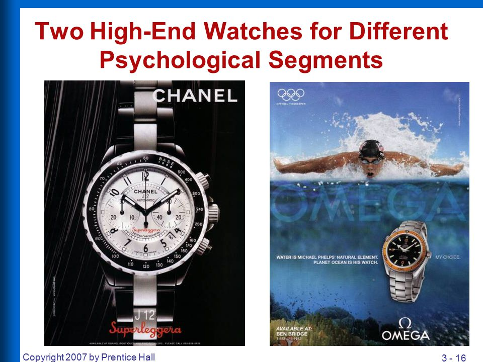 Two High-End Watches for Different Psychological Segments
