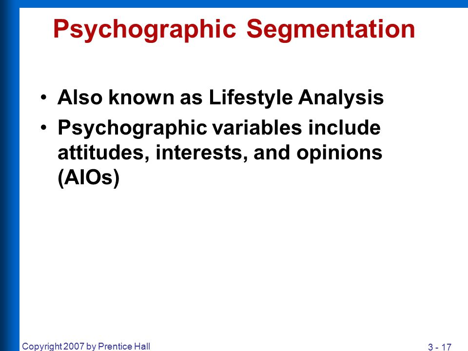 an introduction to the analysis of psychographic segmentation Psychographic consumer profiling is believed to the problem with psychographic segmentation is that it it's not based on a psychological analysis of.