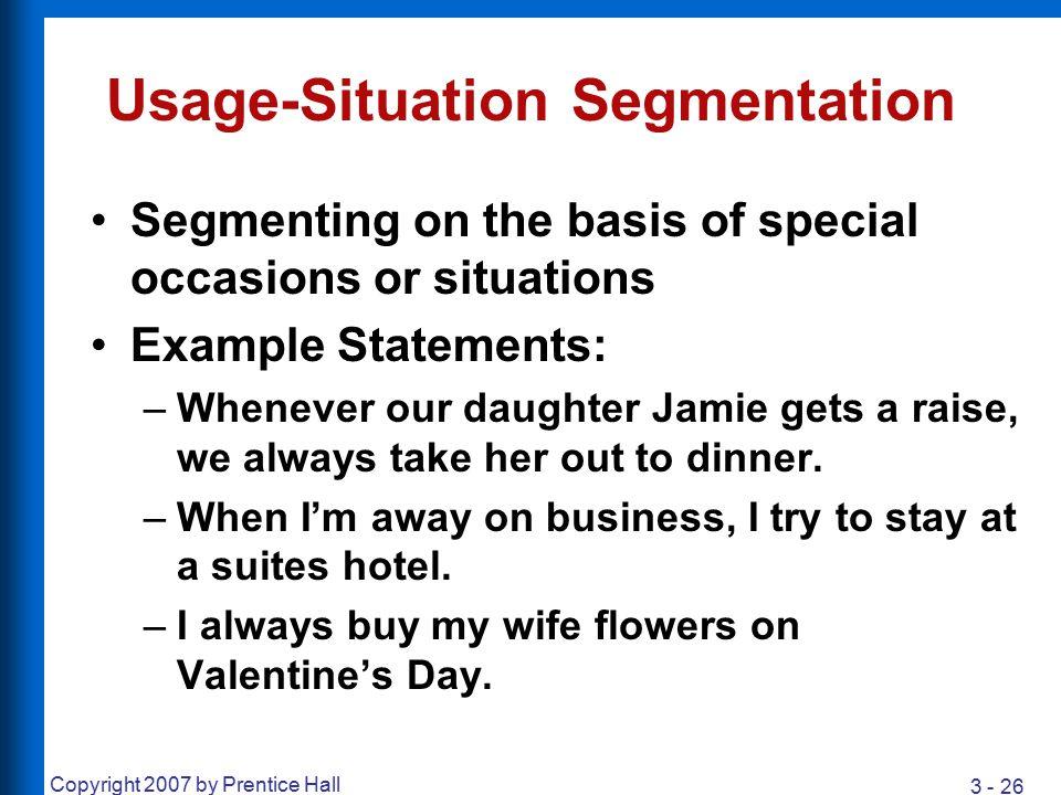 Usage-Situation Segmentation