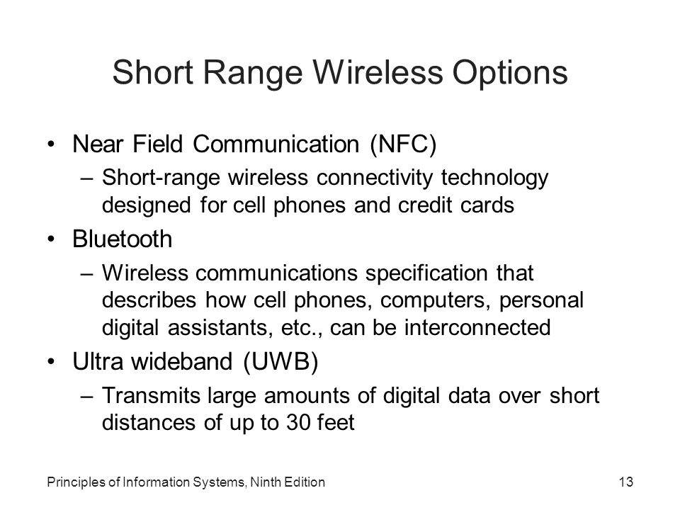 Short Range Wireless Options