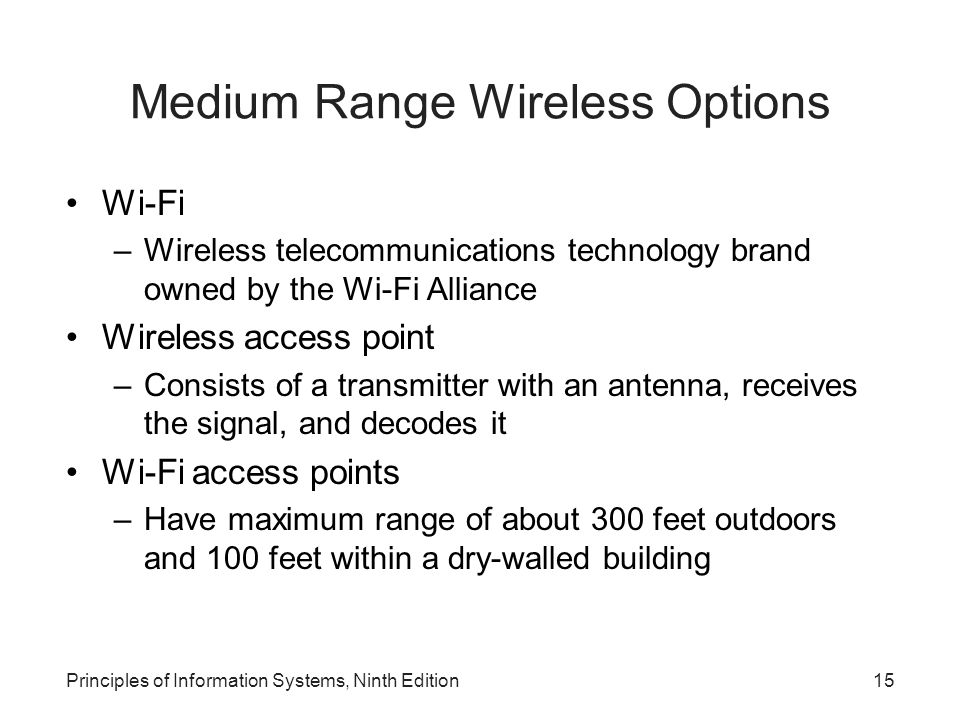 Medium Range Wireless Options