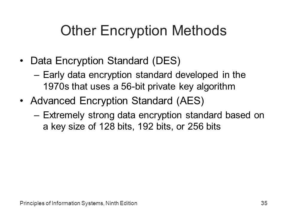 Other Encryption Methods