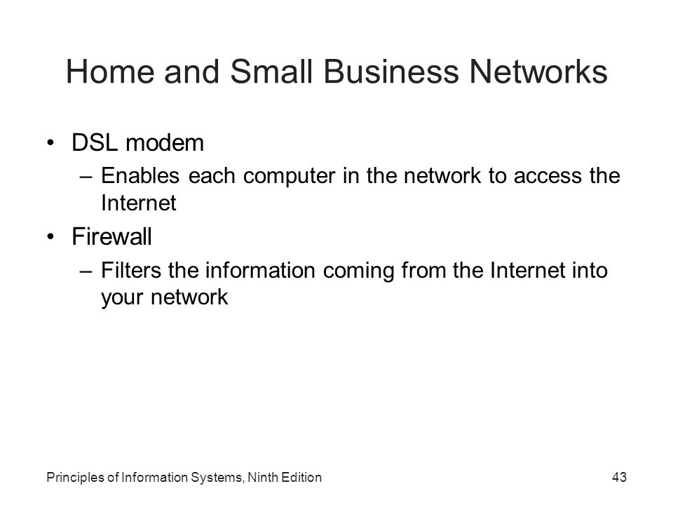 Home and Small Business Networks