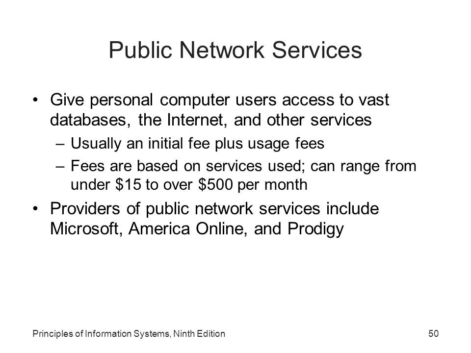 Public Network Services