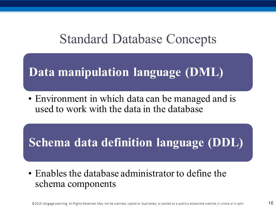 Standard Database Concepts