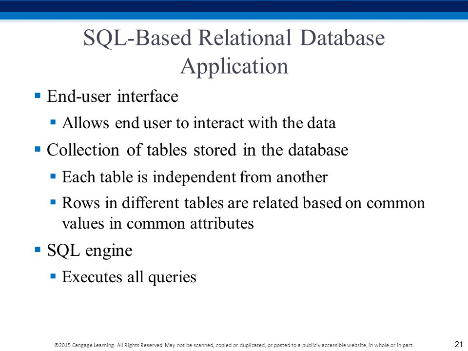 SQL-Based Relational Database Application