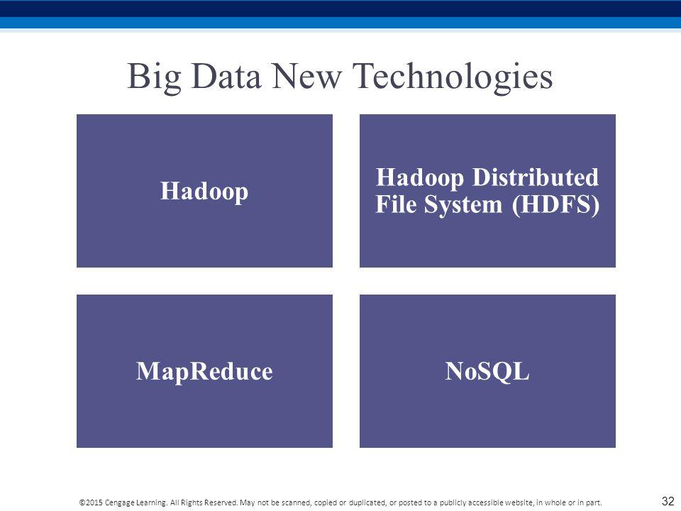 Big Data New Technologies