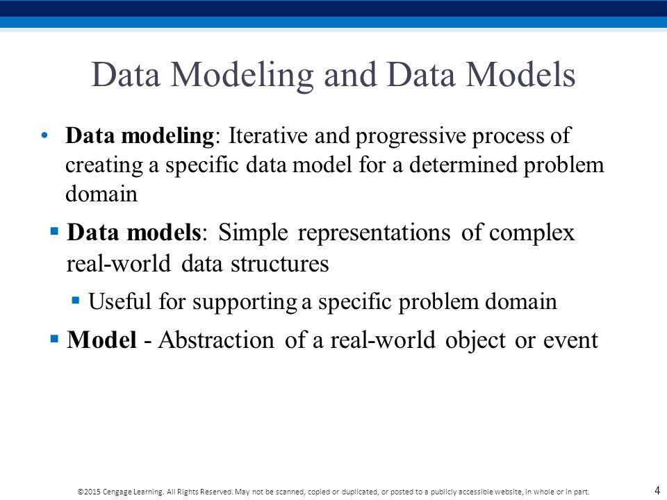 Data Modeling and Data Models