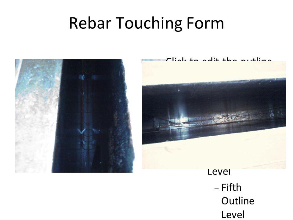 Rebar Touching Form