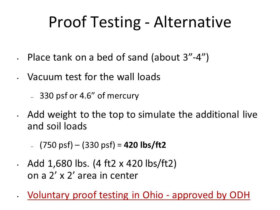 Proof Testing - Alternative