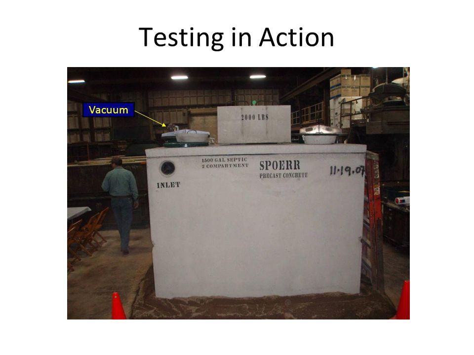 Testing in Action Vacuum