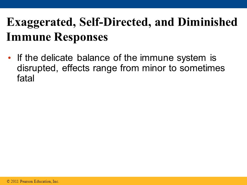 Exaggerated, Self-Directed, and Diminished Immune Responses