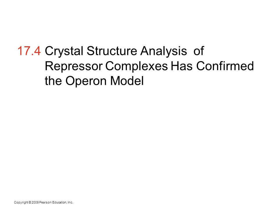 17.4 Crystal Structure Analysis of Repressor Complexes Has Confirmed the Operon Model