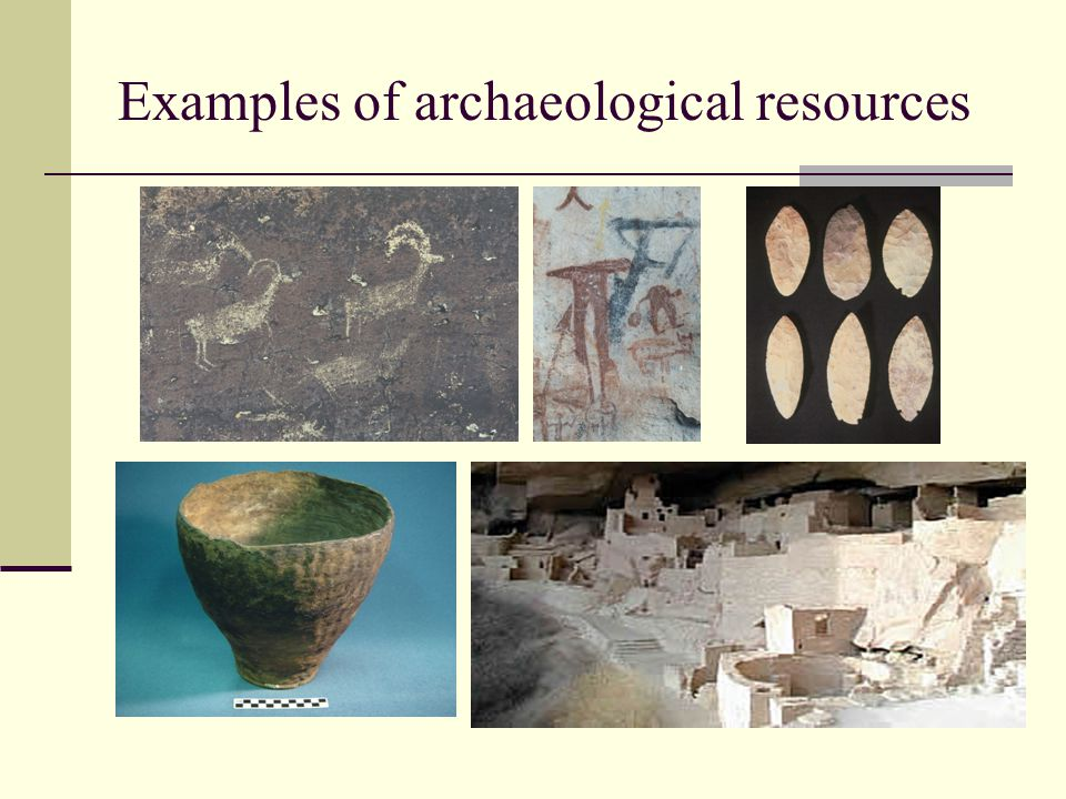Examples of archaeological resources