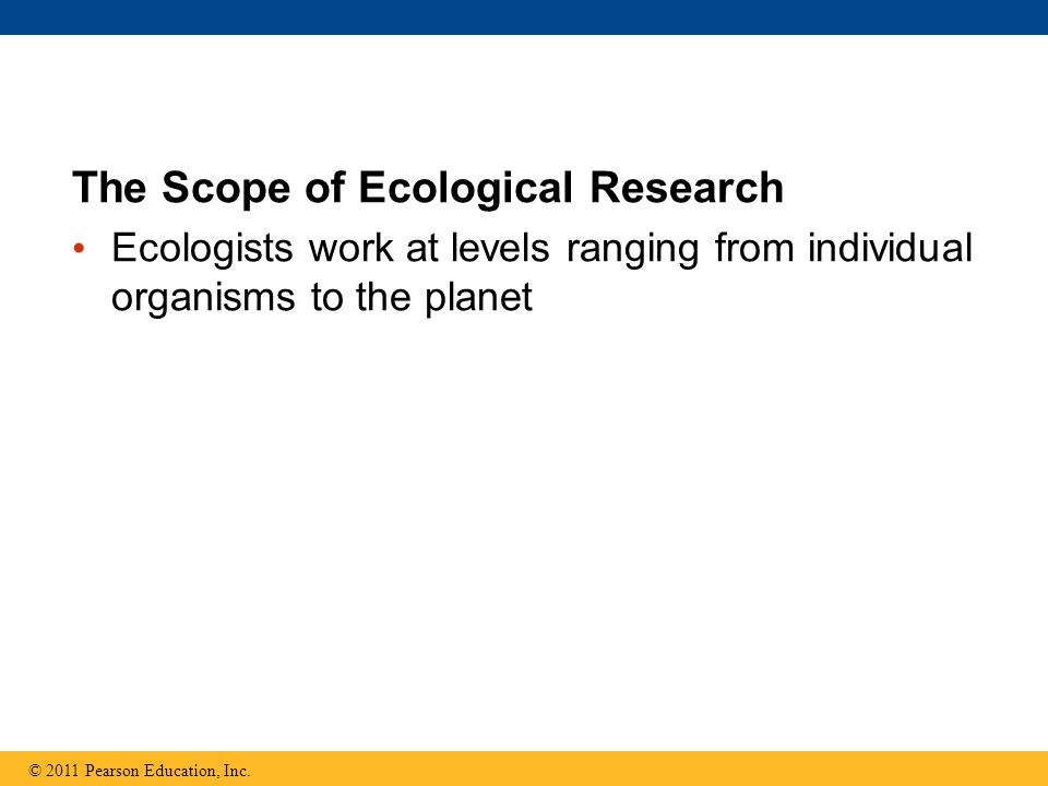 The Scope of Ecological Research