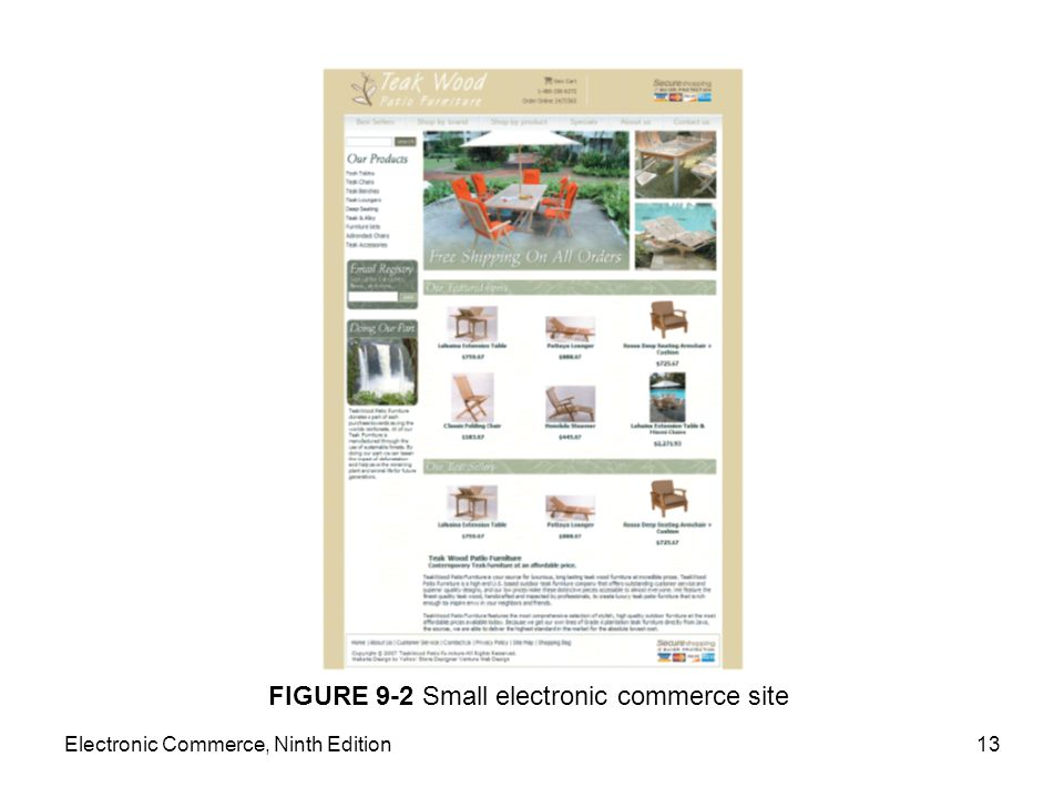 FIGURE 9-2 Small electronic commerce site