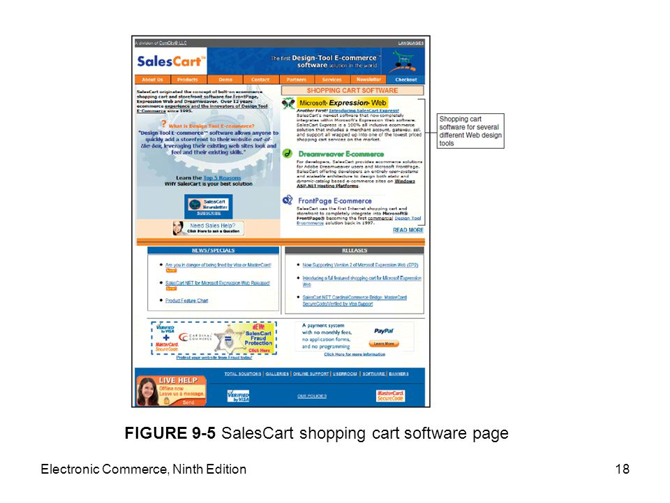 FIGURE 9-5 SalesCart shopping cart software page