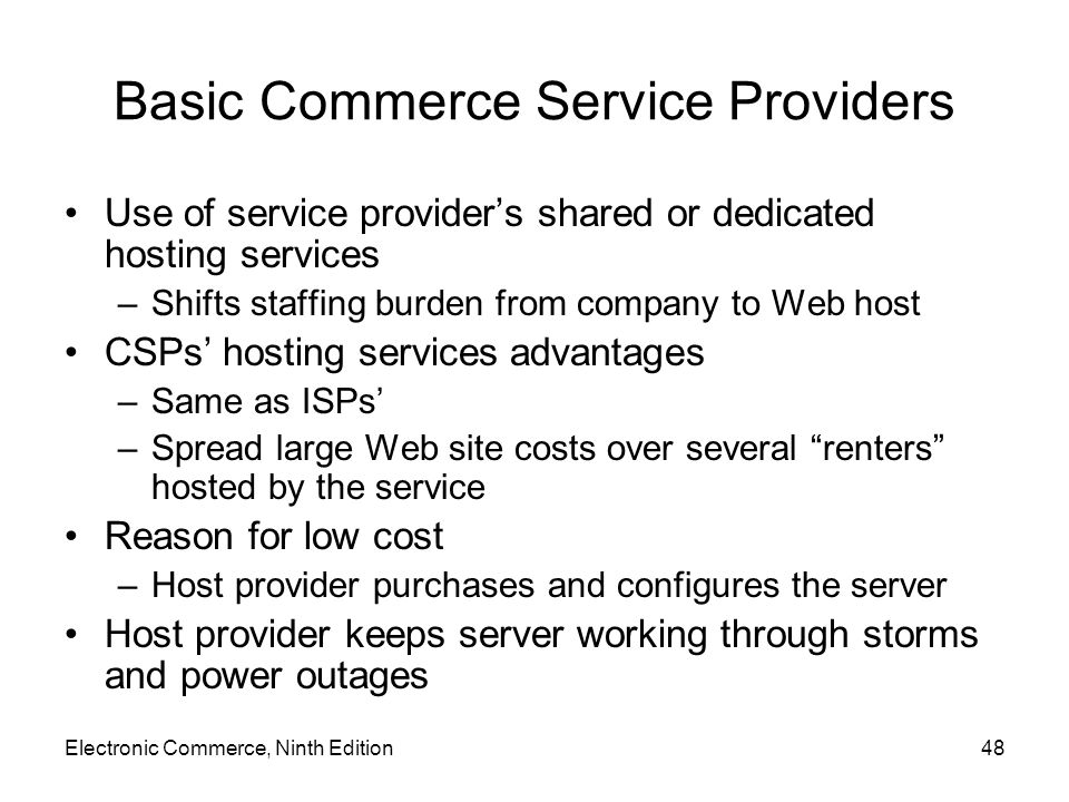 Basic Commerce Service Providers