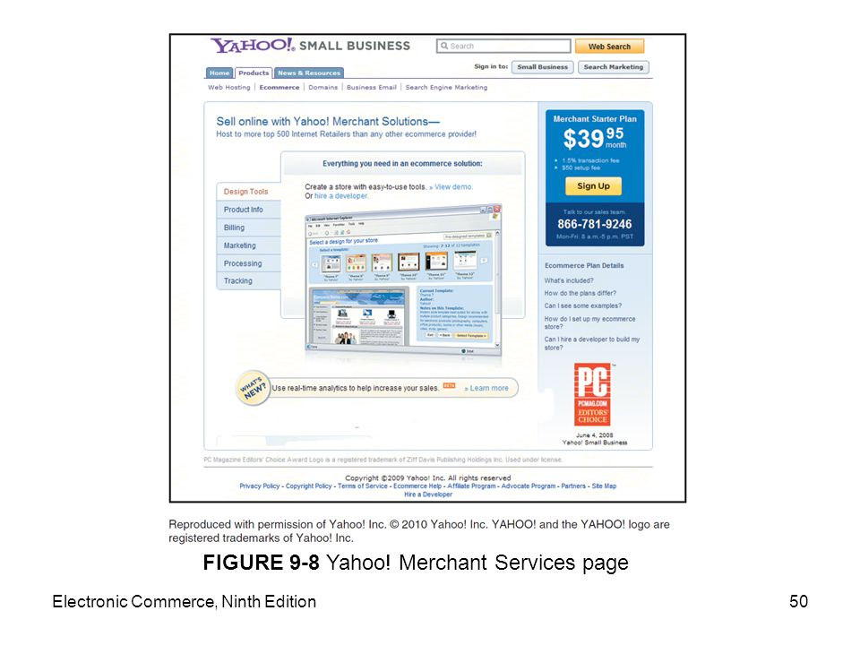 FIGURE 9-8 Yahoo! Merchant Services page