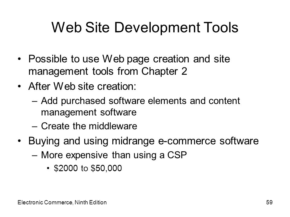Web Site Development Tools