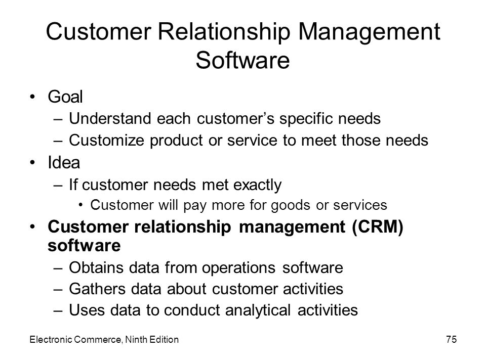 Customer Relationship Management Software
