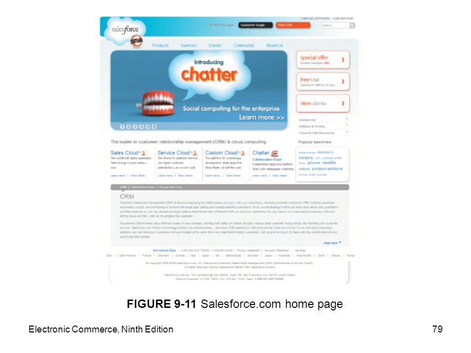 FIGURE 9-11 Salesforce.com home page