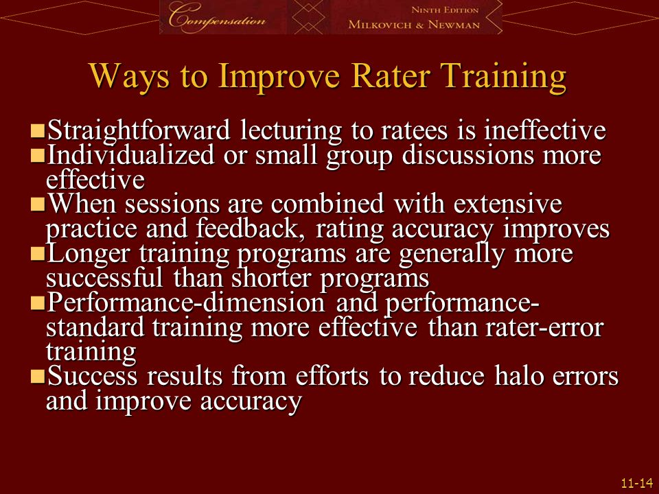 Ways to Improve Rater Training