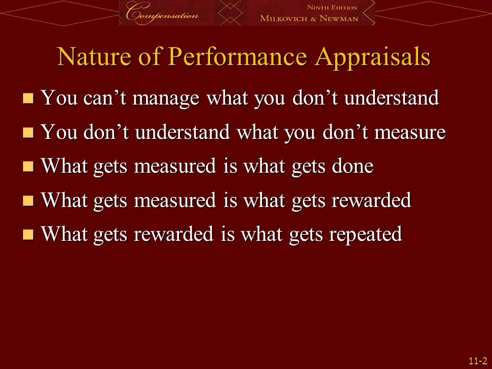 Nature of Performance Appraisals