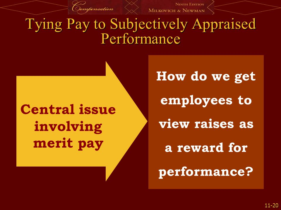 Tying Pay to Subjectively Appraised Performance