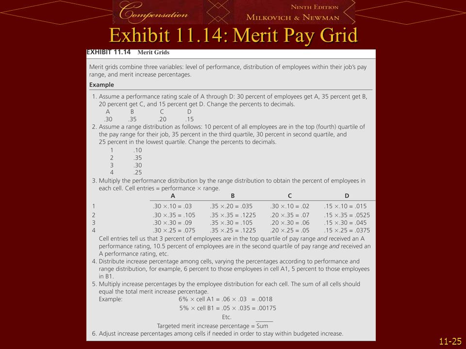 Exhibit 11.14: Merit Pay Grid