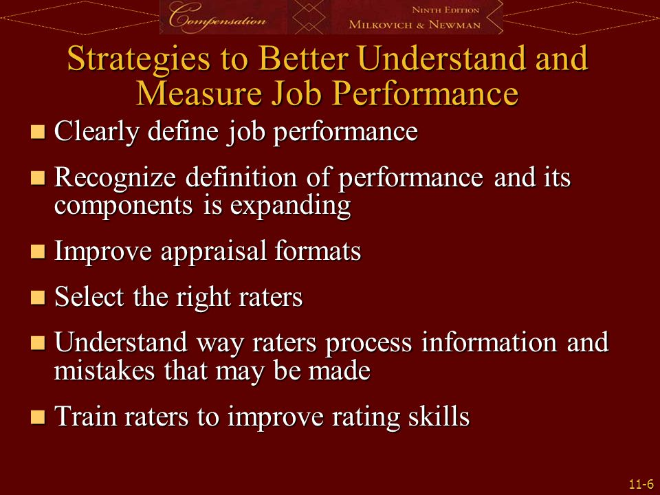 Strategies to Better Understand and Measure Job Performance