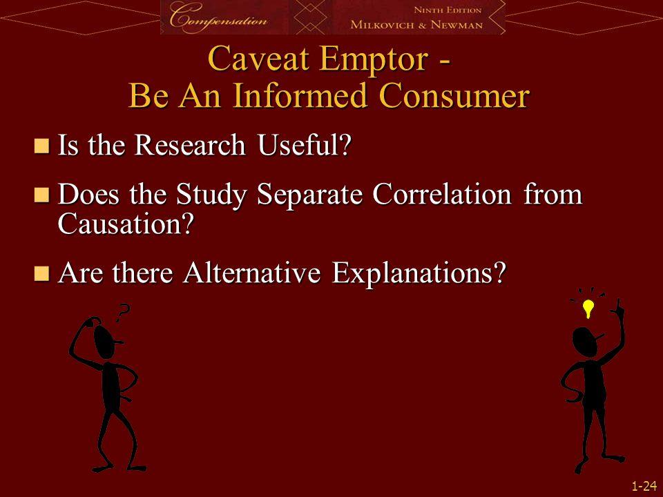 Caveat Emptor - Be An Informed Consumer