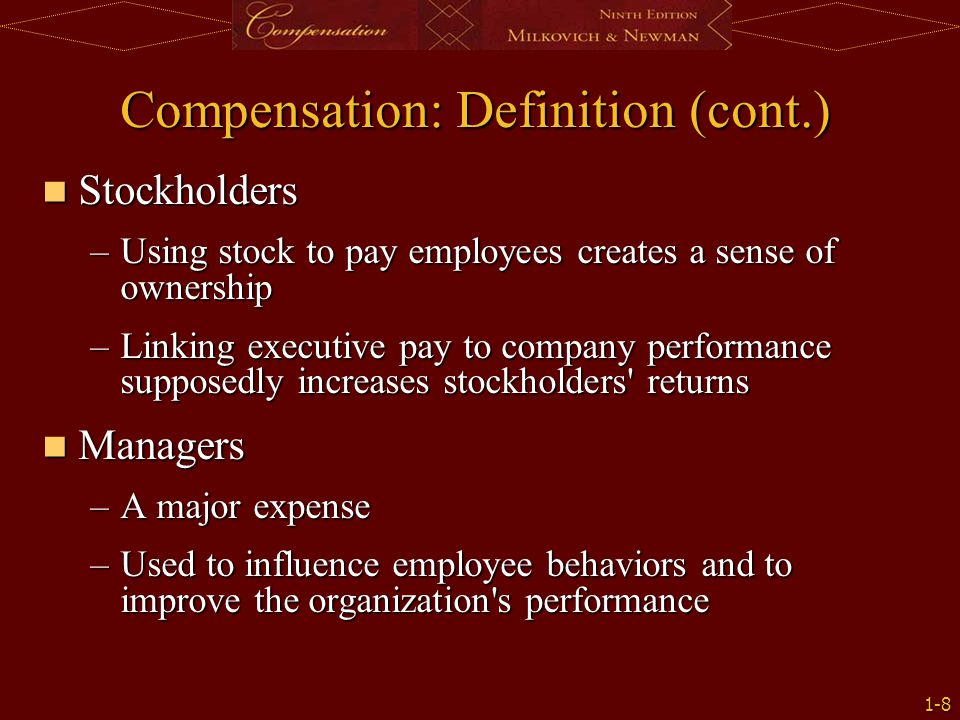 employees and stockholders relationship