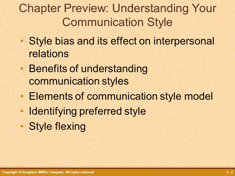 Chapter Preview: Understanding Your Communication Style