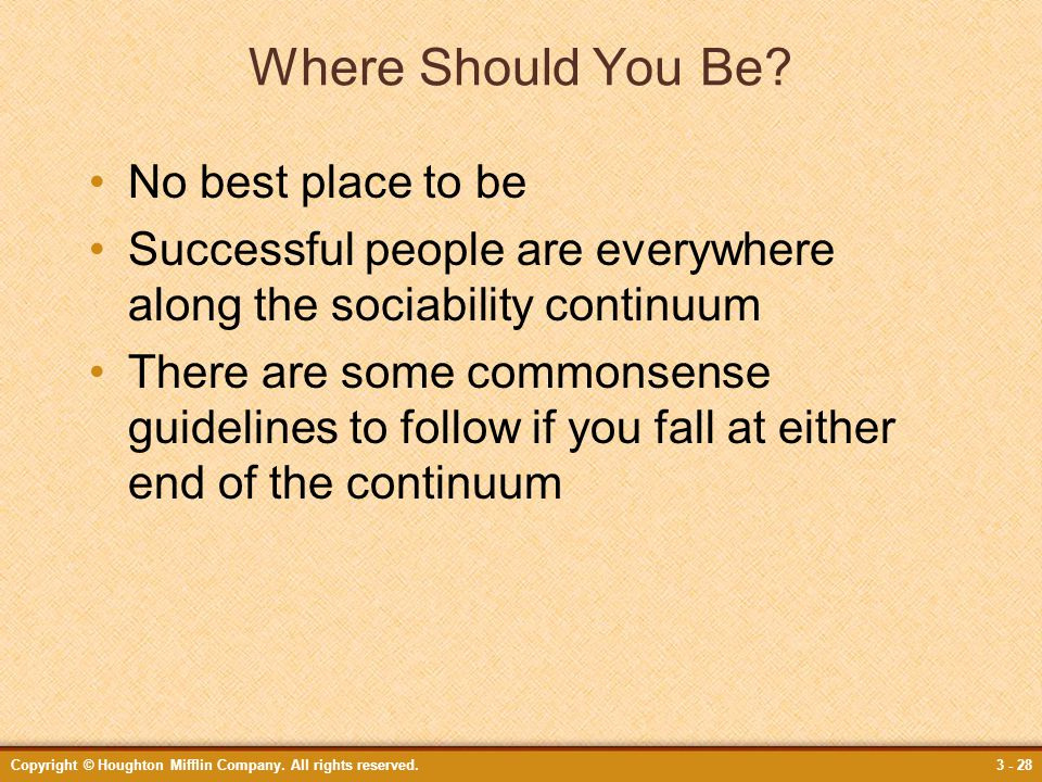 Where Should You Be No best place to be
