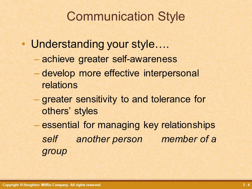 Communication Style Understanding your style….