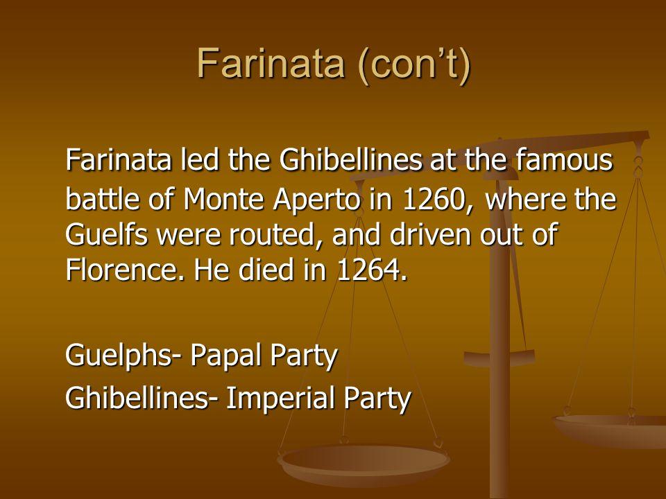 Farinata (con't)