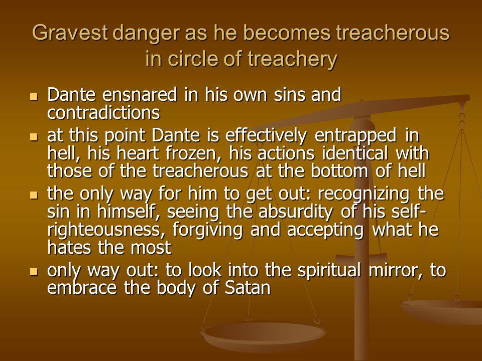 Gravest danger as he becomes treacherous in circle of treachery