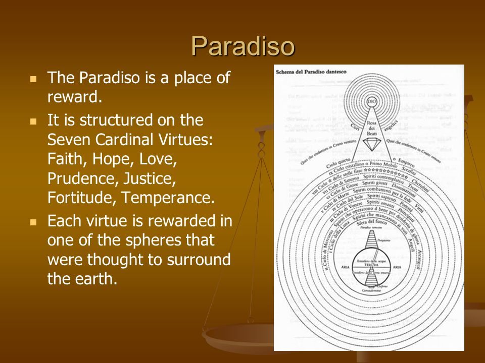 Paradiso The Paradiso is a place of reward.