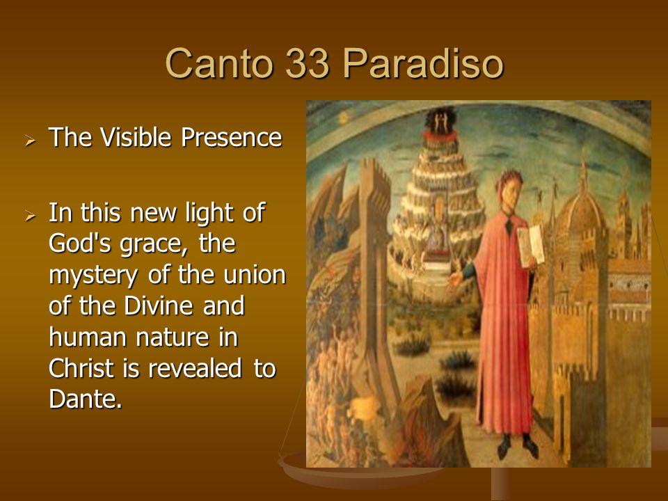 Canto 33 Paradiso The Visible Presence