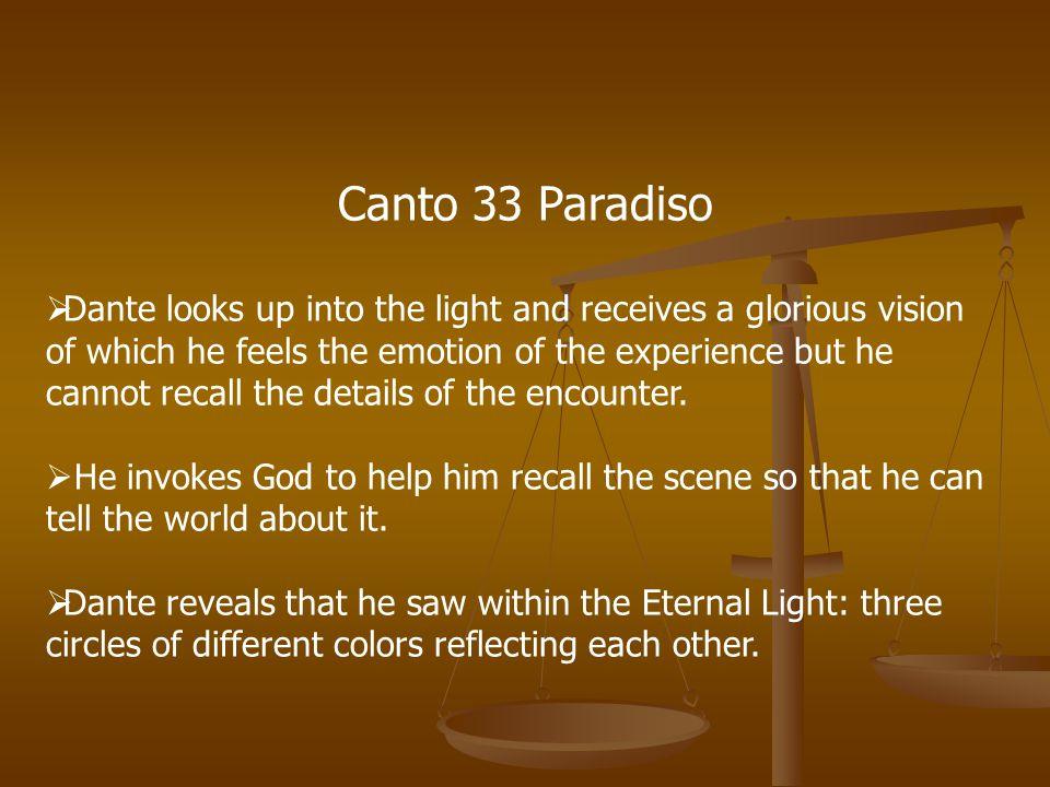 Canto 33 Paradiso