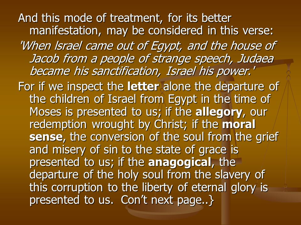 And this mode of treatment, for its better manifestation, may be considered in this verse: