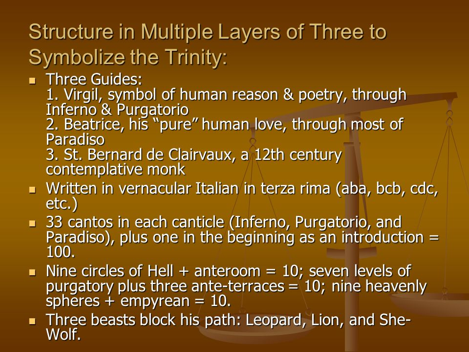 Structure in Multiple Layers of Three to Symbolize the Trinity: