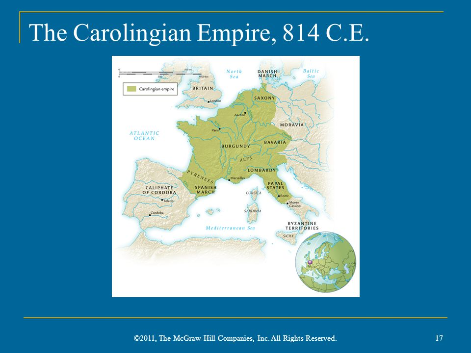 The Carolingian Empire, 814 C.E.