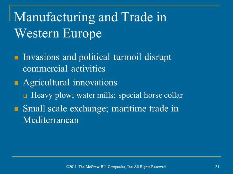 Manufacturing and Trade in Western Europe