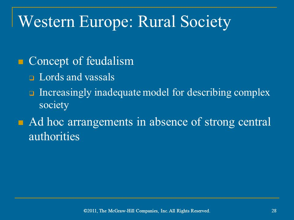 Western Europe: Rural Society
