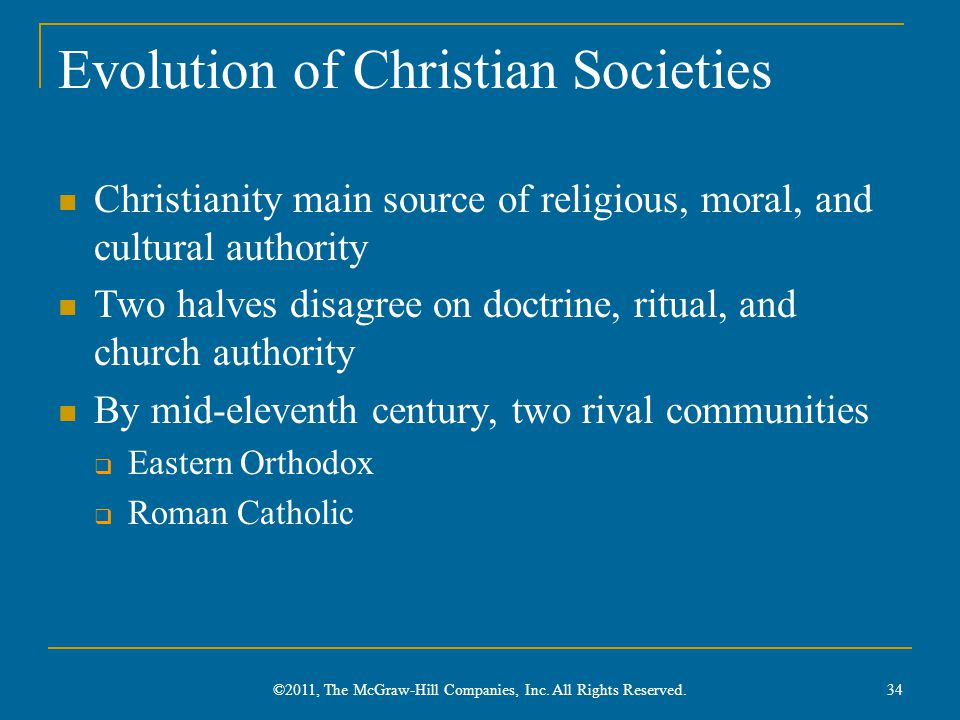 Evolution of Christian Societies